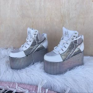 YRU Qozmo Disco Flatform Shoes